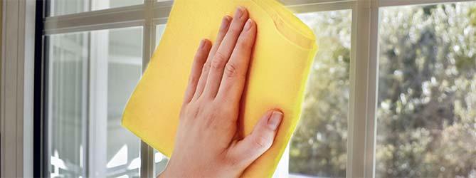 Glas onderhouden - ramen schoonmaken
